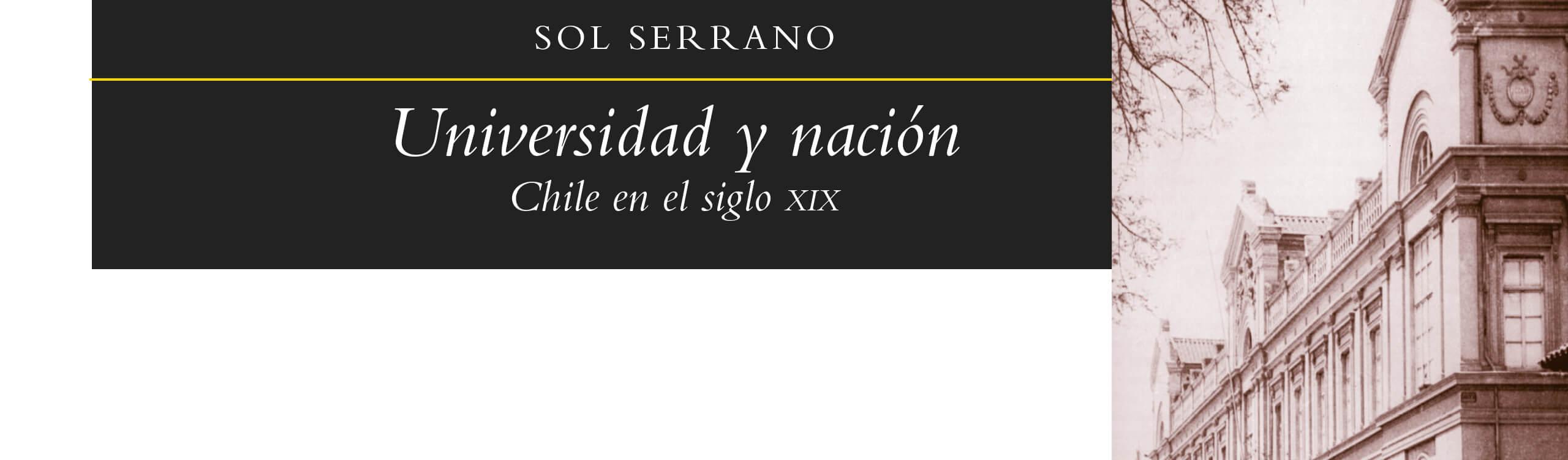 Sol Serrano Universidad y estado Editorial universitaria