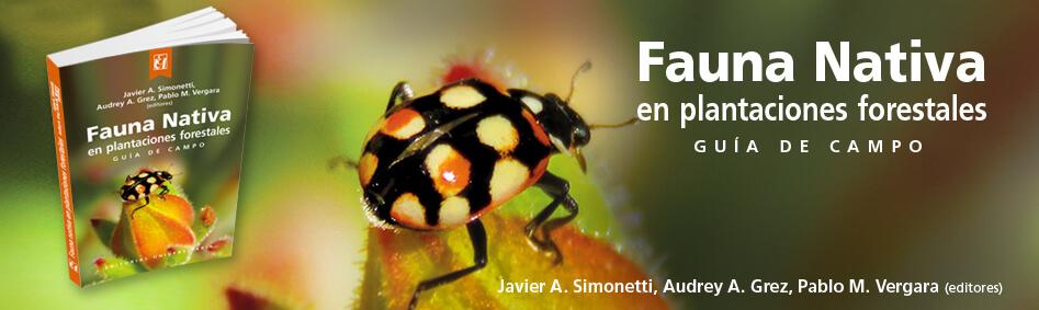 fauna nativa en plantaciones forestales Editorial Universitaria