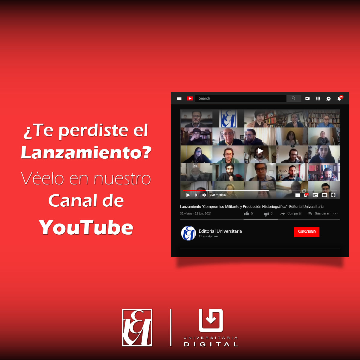 Canal You tube 2021